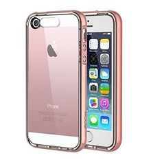 $3.49 (50% Off) on LootHoot.com - iPhone SE Case, ROCK® MOOST [Light Tube Series] Hybrid Case Cover for iPhone SE / iPhone 5s with Incoming Call Flash Function(Rose Gold)