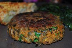 Heerlijke vegetarische burger (met kikkererwten en linzen)
