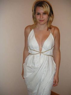 FROM BEDSHEET TO ''GRECIAN GODDESS'' DRESS - CLOTHING