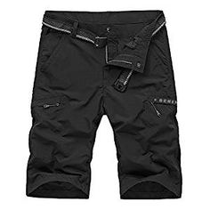 OCHENTA Men's Outdoor Expandable Waist Lightweight Quick Dry Shorts for Hiking Camping Black 40 Mens Outdoor Clothing, Hiking Shorts, Men Hiking, Chino Shorts, Men Shorts, Outdoor Outfit, Quick Dry, Casual Shorts, Men Casual