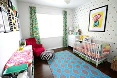 A Colorful Eclectic Nursery by TaylorMade