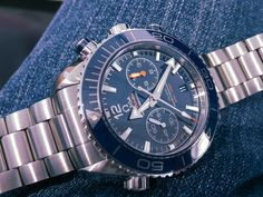 Omega Seamaster Planet Ocean Co-Axial Master Chronograph Omega Planet Ocean Chronograph, Omega Seamaster Planet Ocean, Swiss Made Watches, Watch Brands, Omega Watch, Accessories, Fashion, Moda, Fashion Styles