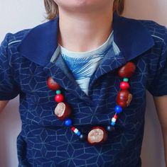 Herfst knutselen met kinderen: een ketting van kastanjes Diy Crafts, Jewelry, Crafting, Clothes, Seeds, Outfit, Clothing, Bijoux, Do It Yourself