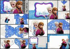 Frozen Birthday with Snow: Free Printable Invitations.