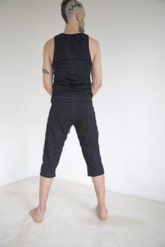 Mens Yoga Tank Top l Bamboo Shirt l Yoga T Shirt l Sleeveless White Top l Mens Hippie Shirt l Yoga Wear l Active Wear l Vegan Clothing l