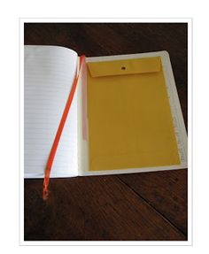 Perfect for interactive notebooks to store unfinished foldables or small items.