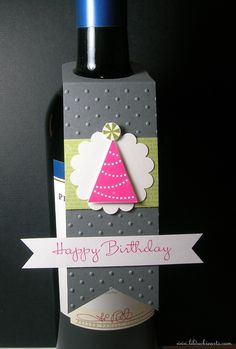 Handmade Wine or Bottle Tag | Lil Duckie Arts
