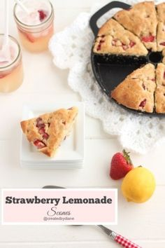 Strawberry Lemonade Scones @createdbydiane