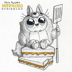 Chris Ryniak - cute art  Morning scribbles