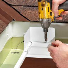 Water Spills Over Gutter - Easy Gutter Fixes: http://www.familyhandyman.com/roof/gutter-repair/easy-gutter-fixes#5