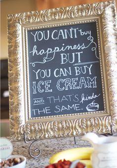 Ice Cream + Chalkboards