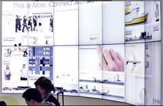 Digital signage in the workplace.