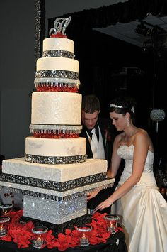 bling wedding cake by B Willard, via Flickr