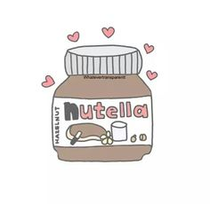 I ❤️ nutella. Tag a nutella lover! Victoria Robinson, Overlays Tumblr, Nutella Spread, Im So Fancy, Coffee Drawing, Nutella Recipes, Fathers Love, Kawaii, Good Notes