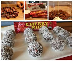 Cherry Ripe Balls No Bake