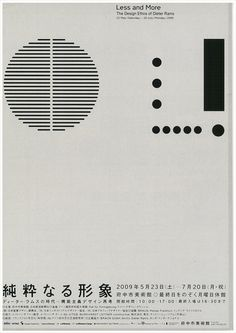 Less and More The Design of Dieter Rams 2009 #graphicdesign #design #poster #dieterrams