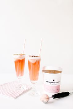 get inspired by your favorite summer sorbet flavor, and then whip up this incredibly simple cocktail! | recipe via coco kelley