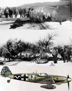 Bf 109G-14/AS (W.Nr. 784993)пилот Герберт Максис 13./JG 53 операция Bodenplatte. После аварийной посадки своего самолета вблизи Oberfelsberg, во время попытки выбраться из кабины самолета Максис был убит выстрелом в голову американским солдатом