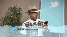 GIPHY is your top source for the best & newest GIFs & Animated Stickers online. Find everything from funny GIFs, reaction GIFs, unique GIFs and more. Celebrity Mean Tweets, Celebrities Read Mean Tweets, Celebrities Reading, Super Funny, Funny Cute, The Funny, Hilarious, Pharrell Williams, Best Series