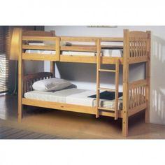 Litera Bahia Pino     Fantástica litera de madera de pino en color miel convertible en dos camas.    Perfecta para espacios reducidos, aunque si quieres hacer redistribución de tu casa, ésta litera te ofrece la gran ventaja de que se puede separar en dos camas.    Sayez