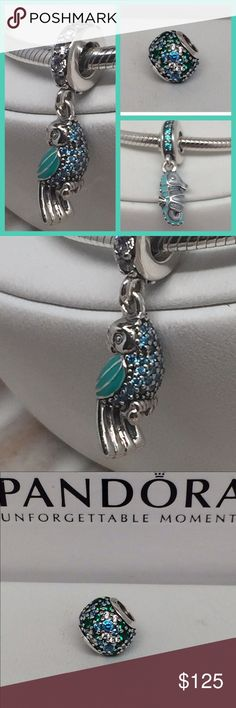 New Pandora Summer Tropical Set 3pcs/Set for You This is a Brand New Authentic Pandora Charm Set. Comes. with Tropical Parrot, Ocean Mosaic Pave, Seahorse  Comes in A Pandora Pouch or Paper Pandora Box. Both suitable for gifting.   No Trades. Please.   All Hallmarked and properly stamped.  If any questions or concerns please drop me a note.   Hard Box Sold Separately.   Thanks and Happy Shopping.   Oh, if you need anything special just let me know and I will do my best to get you what you…