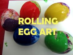Experimenting Mom: Easter Special: Rolling Egg Art