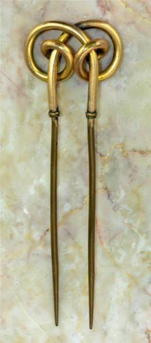 1860's civil war ladies rose-gold hair comb.