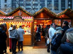 Chicago Christkindlmarket and a listing of German Christmas Markets in North America        http://www.germanfoods.org/consumer/facts/christmasmarkets.cfm