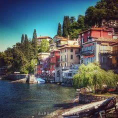 Varenna, lake Como, Italy by Barbara Orenya