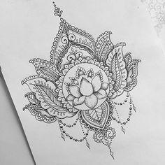 "instaaxx: ""Lotus cover up for Jazmine #lotustattoo #lotusflower #lotus #tattoodesign #tattoos #dotwork #mandala #mehndi by oliviafaynetattoo http://ift.tt/1N0wVP9 """