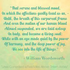 #inspire #quote #williamwordsworth #davidlynchfoundation #transcendentalmeditation