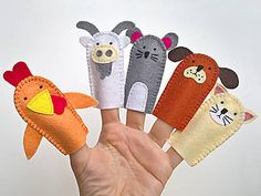 Hračky - Zvieratká 4. - prstové bábky - 9097241_ Coin Purse, Handmade, Hand Made, Coin Purses, Purse, Handarbeit