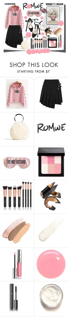 """""""ROMWE Bubble Gum"""" by emperormpf ❤ liked on Polyvore featuring McQ by Alexander McQueen, BaubleBar, Bobbi Brown Cosmetics, By Terry, JINsoon and Chanel"""