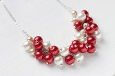 pearl  cluster choker   Gorgeous pearl cluster necklace. I want to try and make something like ...
