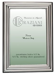 Graziani Picture Frame in Polished Silver with Double Convex Border * Clicking on the VISIT button will lead you to find similar product