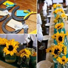 Venha conferir no blog essa combinação refrescante de azul tiffany (turquesa) e amarelo para casamentos!