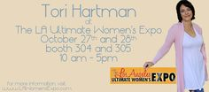 Want to meet Psychic Tori Hartman? She'll be at The Los Angeles Ultimate Women's Expo Oct 27 & 28 - Come discover your Intuitive Power!