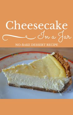 Dessert expert Elise Strachan shared a fun recipe for No-Bake Raspberry Lemon Cheesecake Jars on Today, and the best part is you don't have to bake it! Best Dessert Recipe Ever, Best Dessert Recipes, No Bake Desserts, Pie Recipes, Cheesecake In A Jar, Lemon Cheesecake, Best Pie, Meals In A Jar, Sweetest Thing