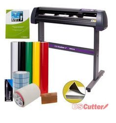 USCutter Vinyl Cutter Best Value Sign Decal Making Kit w/Design Cut Software. USCutter MH Series Vinyl Cutter Plotter with Stand. USCutter MH Series Vinyl Cutter w/Stand. The USCutter MH-Series are the best value vinyl cutters available anywhere! Cutting Plotter, Vinyl Cutting, Vinyl Cutter Machine, Basic Software, Buy Vinyl, Cheap Vinyl, Cricut Vinyl, Sign Maker, Best Computer