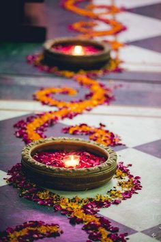 Wedding Design 44 Diwali DIY Decoration Ideas (You Must Try) - The season of lights and joy is here. Yes, the festival of Diwali is getting closer and it is the right time for you guys to make some amazing plans … Diwali Decoration Lights, Diya Decoration Ideas, Diwali Decorations At Home, Indian Wedding Decorations, Decoration Table, Flower Decorations, Ceremony Decorations, Decor Ideas, Indian Wedding Flowers
