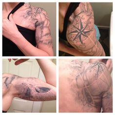 My Nautical Sleeve... A Work In Progress done by Maximilian Rothert at Off The Map Tattoo….. Want something very similar to cap my nautical sleeve.