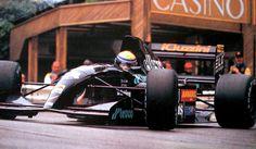 roberto pupo moreno, equipe andrea formula, andrea moda s921, motor judd 3.5 v10, gp de mônaco, 1992.
