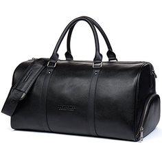 d58d091b23 BOSTANTEN Genuine Leather Travel Weekender Overnight Duff... https   www.