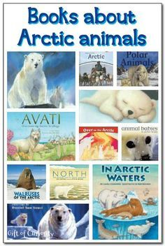 20 books about polar animals with a focus on Arctic animals including polar bears, walruses, Arctic foxes, and more || Gift of Curiosity