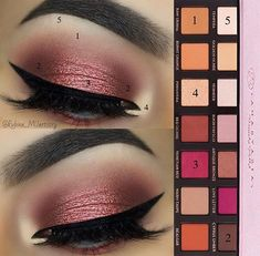 pink look with the anastasia modern renaissance palette