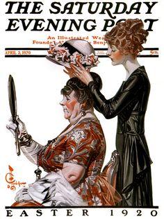 Saturday Evening Post - Easter, 1920.  Illustration by J.C. Leyendecker.