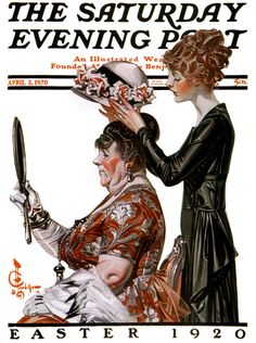 Saturday Evening Post - Easter, 1920.  Illustration by J.C. Leyendecker.