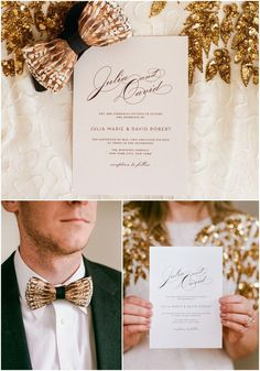 Gorgeous Golden Vintage Glam styled shoot with JJ Horton Photography at Ritchie Hill with our Vintage Glam Wedding Invitations Suite!