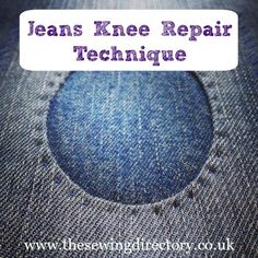 Make repairs to your jeans knees with this neat and effective hand sewing technique to add a patch.