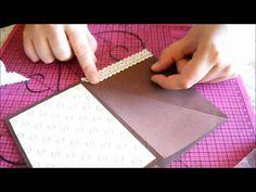 tuto carte asymétrique très simple Junk Journal, Mini Albums, Diy And Crafts, Simple, Lily, Cards, Handmade, Big Shot, Pop